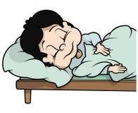 Garçon de sommeil Photos stock