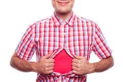 Garçon de sourire dans la chemise de hippie Photos stock