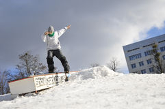 Garçon de surf des neiges Photo libre de droits