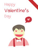 Garçon de Valentine Images stock