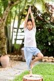 Garçon de yoga Photos stock