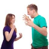 Garçon discutant avec son amie Images stock
