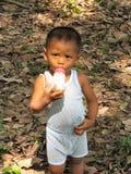 garçon du Bornéo Photos stock