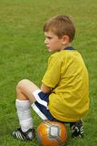 Garçon du football Photographie stock