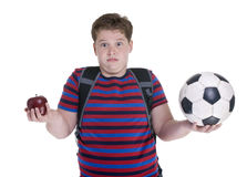 Garçon du football Image libre de droits