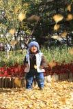 Garçon en automne Images libres de droits