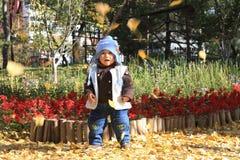 Garçon en automne Photographie stock libre de droits