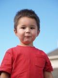 Garçon Enfant-Idiot de visage Images stock