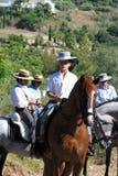 Garçon espagnol sur un cheval Image libre de droits
