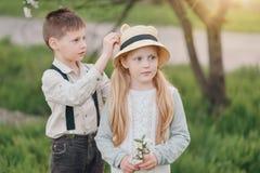 Garçon et amie Photographie stock
