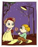 Garçon et amie d'amour de Saint-Valentin Illustration Stock