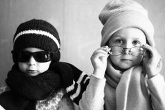 Garçon et fille Photos libres de droits