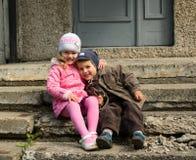 Garçon et fille Photo stock