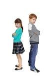 Garçon et fille Photo libre de droits