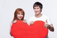 Garçon et fille dans l'amour Image libre de droits