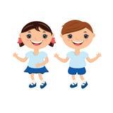 Garçon et fille mignons Image libre de droits