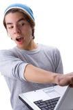 Garçon et ordinateur portatif 2 Image libre de droits