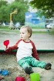 Garçon et sable Photo libre de droits
