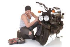 Garçon et son scooter photo libre de droits