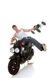 Garçon et son scooter Image libre de droits