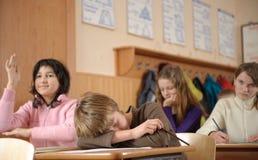 Garçon fatigué Image libre de droits