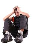 Garçon fatigué Photos stock
