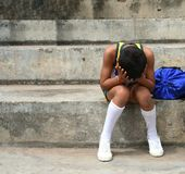Garçon fatigué de sports Image libre de droits