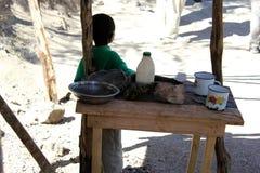 Garçon haïtien près de Mirebalais, Haïti Photos libres de droits