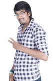 Garçon indien sur le fond blanc Photos libres de droits