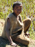 Garçon indigène malgache Photo stock