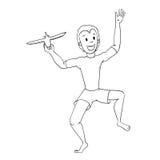Garçon jouant avec Toy Aircraft 2 Illustration Libre de Droits