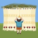 Garçon juif jetant un coup d'oeil dans le tabernacle illustration de vecteur