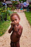Garçon mélanésien Photos libres de droits