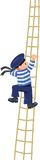 Garçon-marin montant les linceuls Images libres de droits