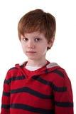 Garçon mignon, avec le regard triste Photo stock