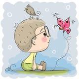 Garçon mignon de dessin animé illustration de vecteur