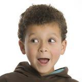 Garçon mignon semblant étonné Photo libre de droits