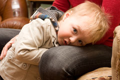 Garçon mignon timide Photographie stock libre de droits