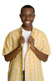Garçon noir d'adolescent Images stock
