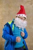Garçon occasionnel avec le costume de Santa Photo stock