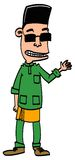 Garçon ou homme portant Baju Melayu Images stock