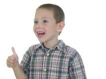 Garçon rouge de languette Photographie stock libre de droits