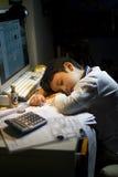 Garçon somnolent Photos libres de droits