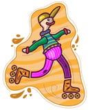 Garçon sur des patins de rouleau Photo stock