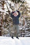 Garçon sur des skis Photographie stock libre de droits