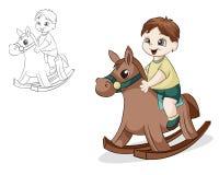 Garçon sur le cheval Images stock