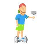 Garçon sur le gyroscooter Photos stock