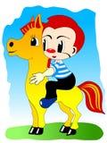 Garçon sur le poney Illustration Stock