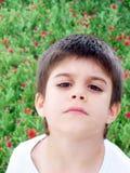 Garçon triste Image stock
