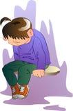 Garçon triste Photo libre de droits